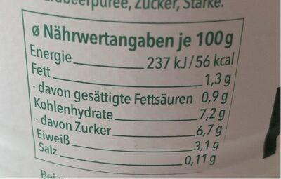 Kalinka kefir - Informations nutritionnelles