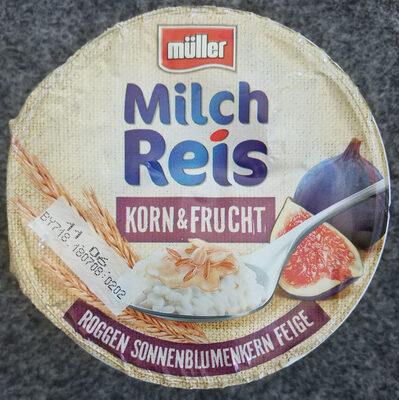 Milchreis Korn&Frucht Roggen Sonnenblumenkern Feige - Produit - de