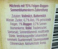 Milchreis Korn&Frucht Roggen Sonnenblumenkern Feige - Ingrédients - de
