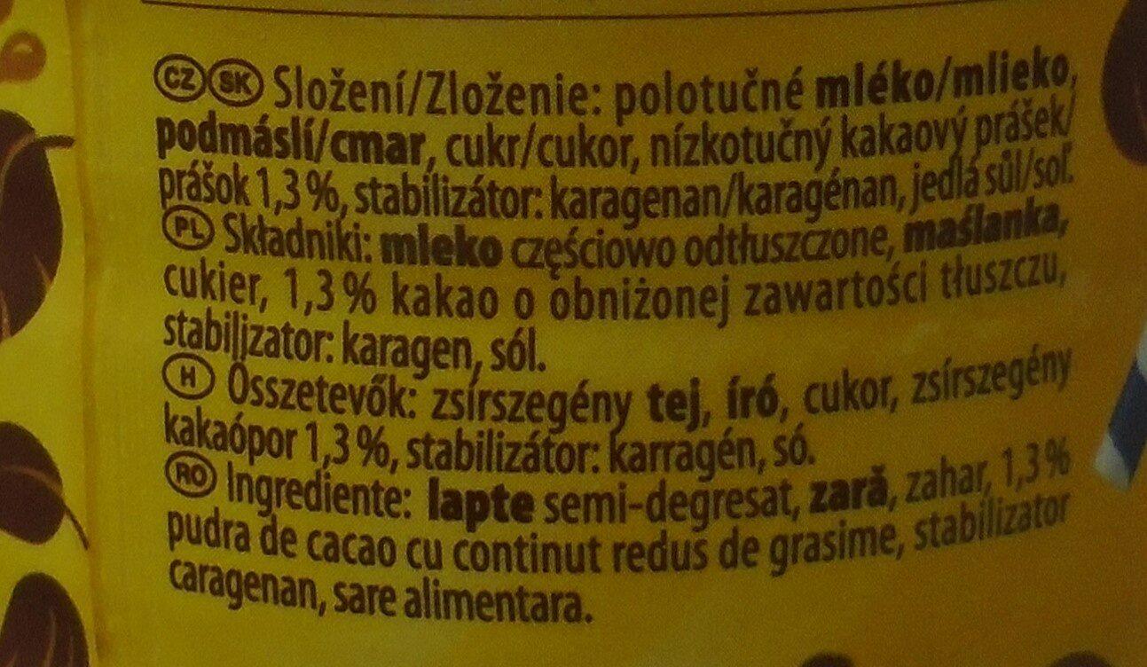 Muller Băutură lactată cu gust de ciocolată - Składniki - ro