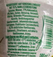 Veganreis Vanille - Zutaten - de