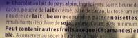 Alpine milk - Ingrédients