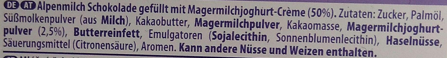 Milka Joghurt - Inhaltsstoffe - de
