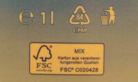Haltbare Vollmilch - Istruzioni per il riciclaggio e/o informazioni sull'imballaggio - de