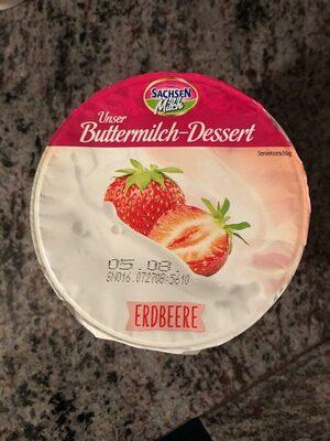 Buttermilch Dessert Erdbeere - Product - en