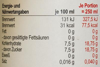 Bissinger Auerquelle Silber - Informations nutritionnelles - de