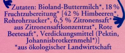 Buttermilch Himbeer-Zitrone - Zutaten - de