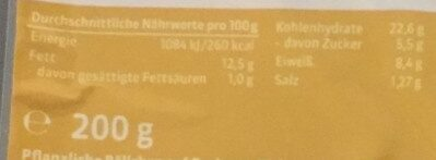 Falafel SnackBalls - Nährwertangaben - de
