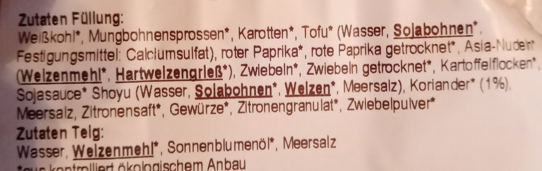 "Mini-Frühlingsrollen ""Thai"" - Zutaten - de"