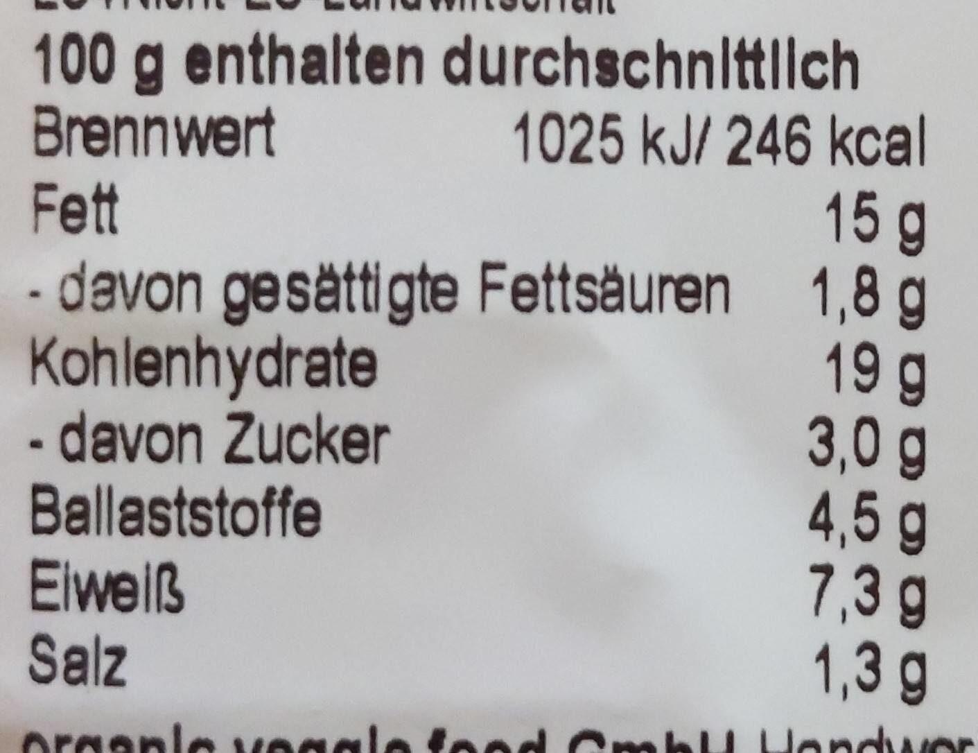 Quinoa-Taler - Informations nutritionnelles - de