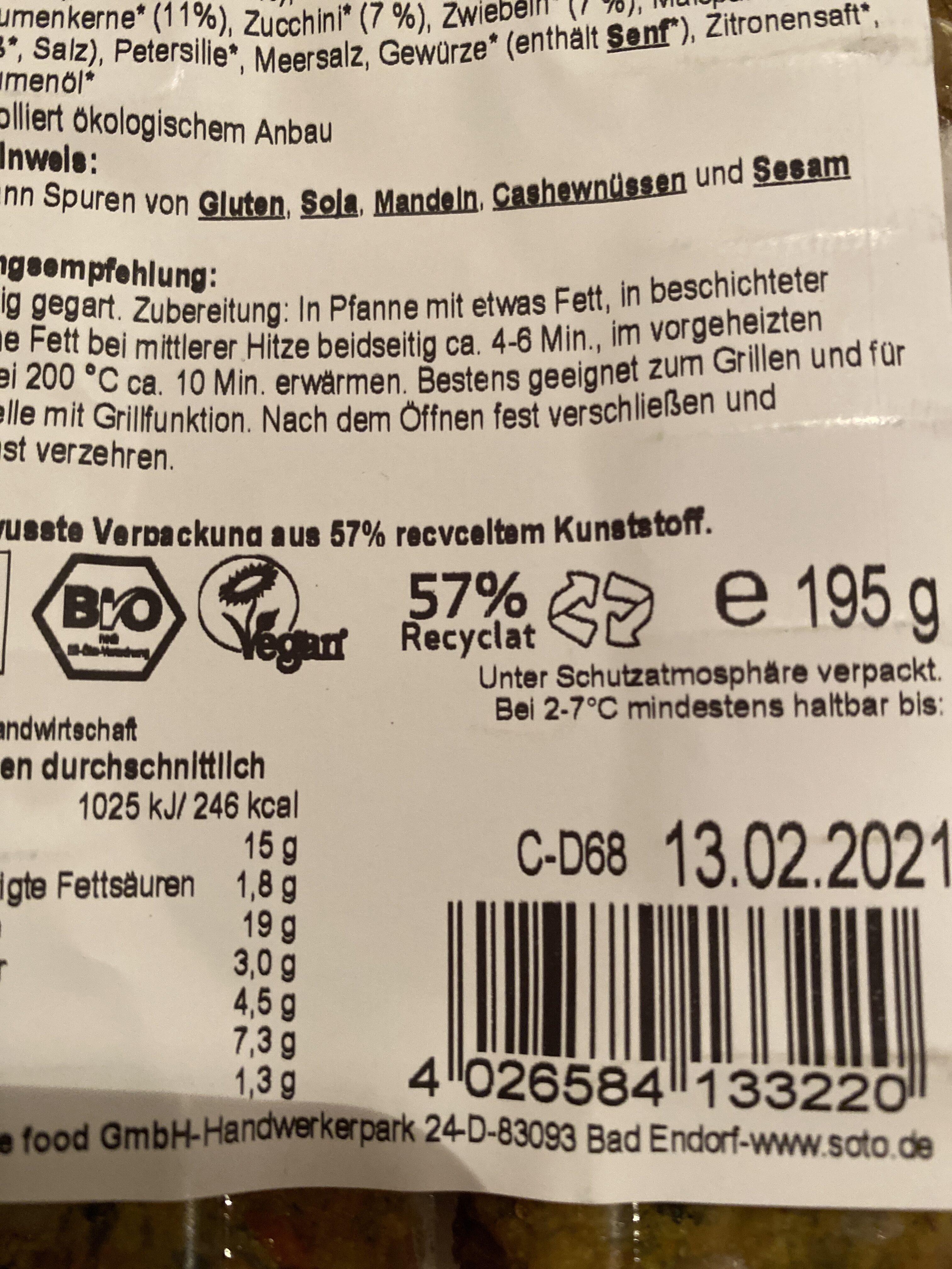 Quinoa-Taler - Instruction de recyclage et/ou informations d'emballage - de