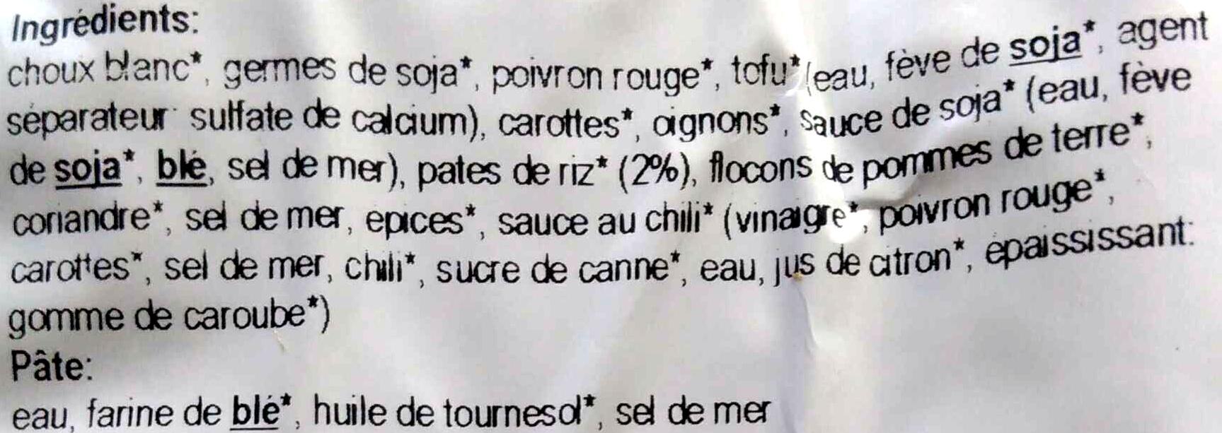 Rouleaux printaniers thai - Ingrédients