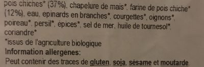 Falafel premium farcis à l'hummus - Ingrediënten