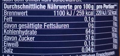 Gold-Apfel - Voedingswaarden - de