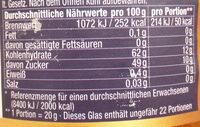 Orangen-Bitterorangen-Marmelade - Voedingswaarden - de