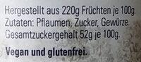 Thüringer Pflaumenmus - Zutaten - de