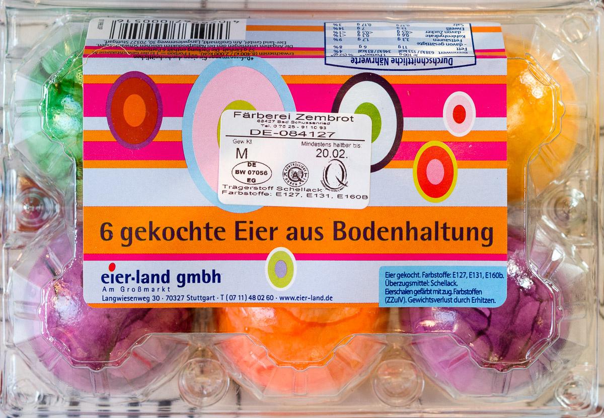 6 gekochte Eier aus Bodenhaltung - Product