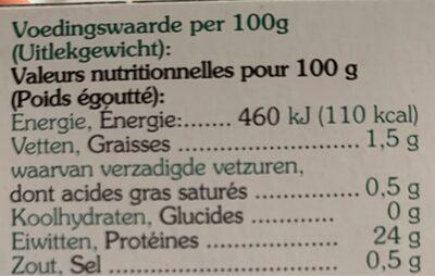 Heller Thunfisch ganze Filetstücke naturell - Nährwertangaben