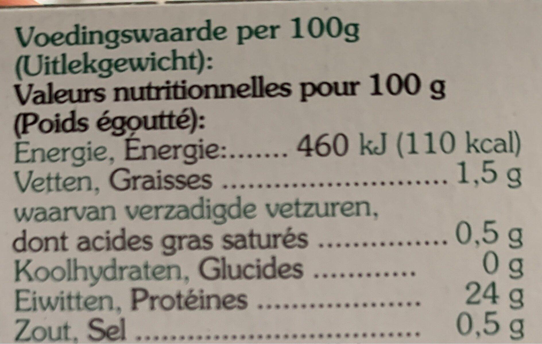 Heller Thunfisch ganze Filetstücke naturell - Nährwertangaben - de