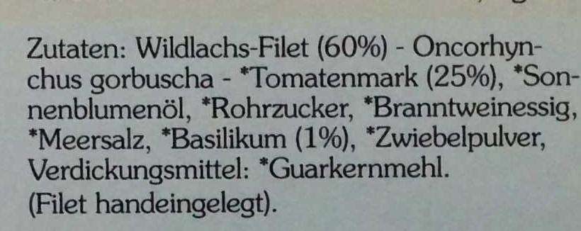 Filet vom Wildlachs in Bio-Tomaten-Basilikum-Creme - Ingredients
