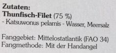 Thunfisch-filet echter bonito - Zutaten - de