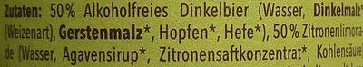 Dinkel-Radler alkoholfrei - Ingredientes - de
