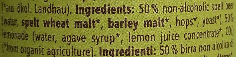 Radler Alkoholfrei - Ingredients - en