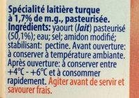 Ayran - Boisson lactée à la turque - Ingredients