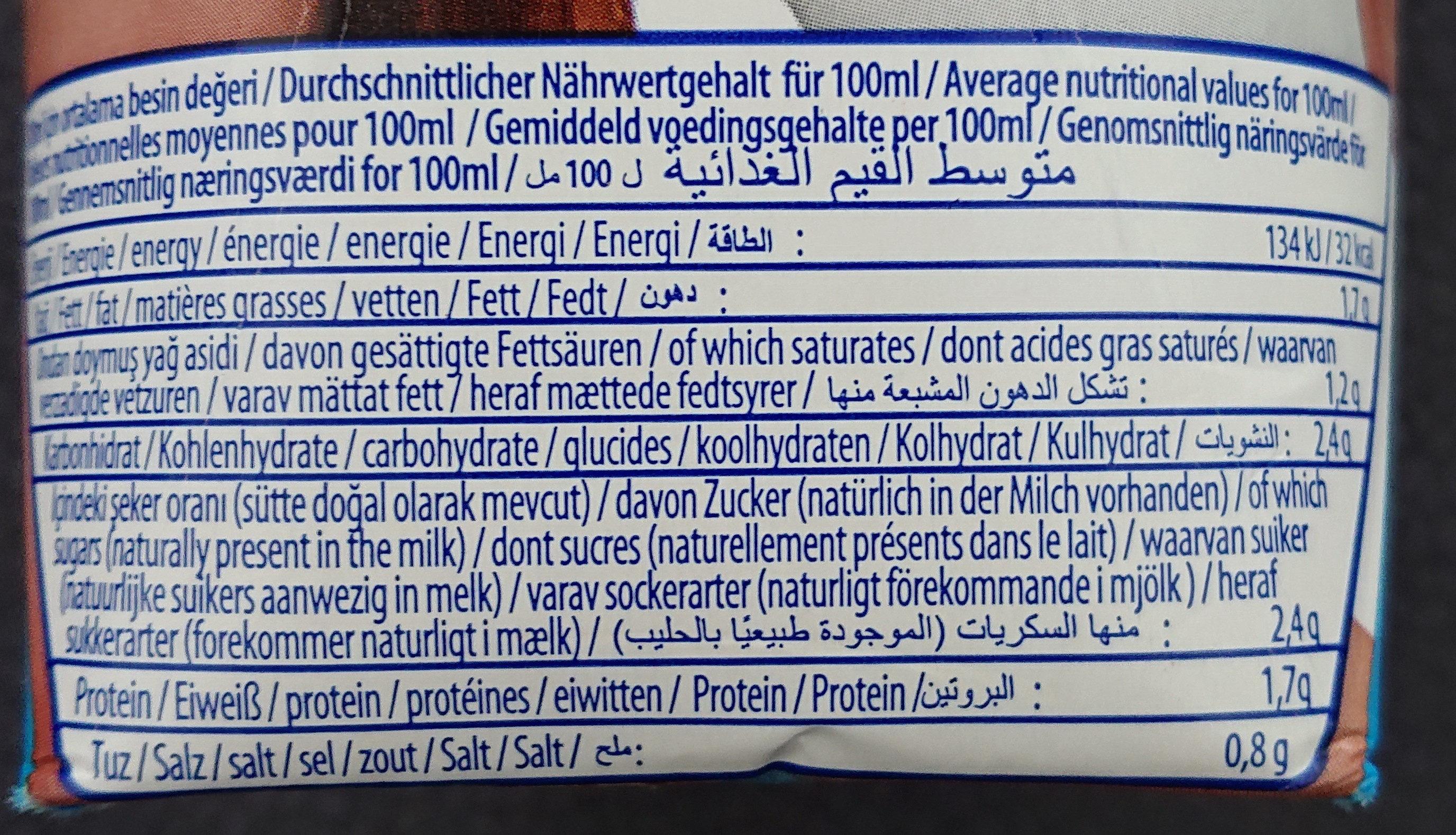 Ayran - Boisson lactée à la turque - Nutrition facts