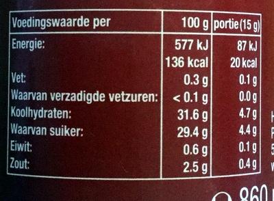 Curry kruiden ketchup original - Informations nutritionnelles