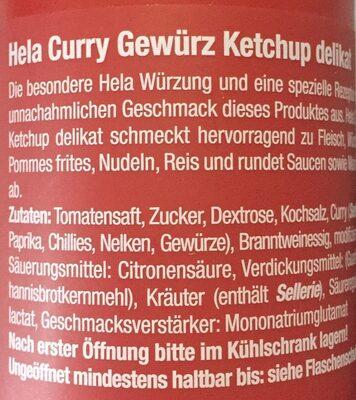 Curry Gewürz Ketchup delikat - Ingredients - de