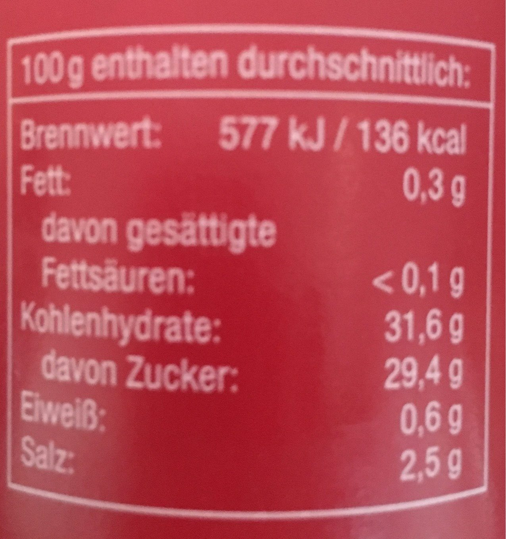 Curry Gewürz Ketchup Scharf - Informations nutritionnelles - fr
