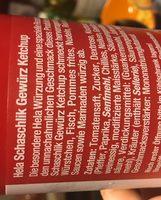 Gewürz Ketchup - Schaschlik - Ingredients - en