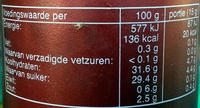 Curry Kruiden Ketchup Original - Nutrition facts