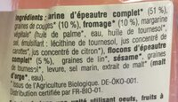 Crackers Country Fromage & Graines de courges - Ingredients - fr