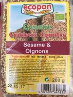 Épeautre Crackers Country Sésame & Oignon - Product - fr