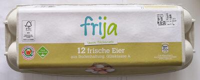 frija 12 frische Eier aus Bodenhaltung, Güteklasse A - Produkt - de