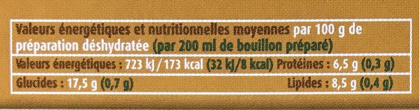 Préparation pour Bouillon de volaille - Voedingswaarden - fr
