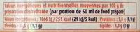 Préparation pour Fond de Veau - Nutrition facts