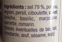 Sel aux herbes - Ingrediënten - fr