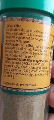 Sel de Celeri - Voedingswaarden - fr