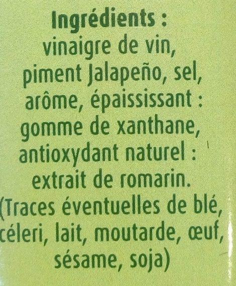 Sauce au Piment fort - Ingrédients