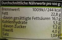 Kräuter Frischecreme - Nährwertangaben - de