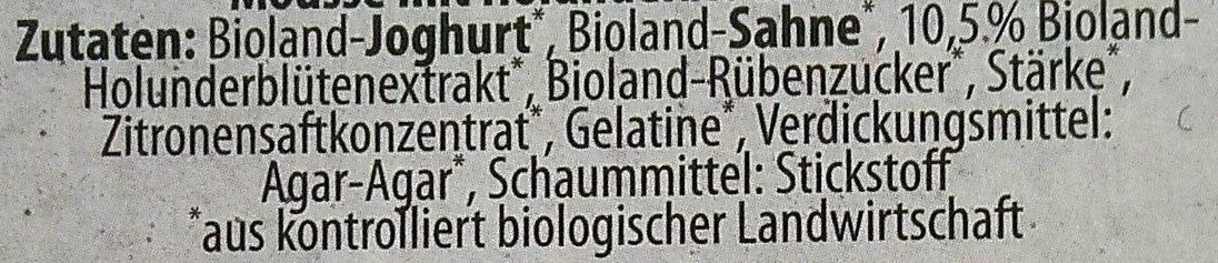 Mousse Blanche Holunderblüte - Ingrédients - de