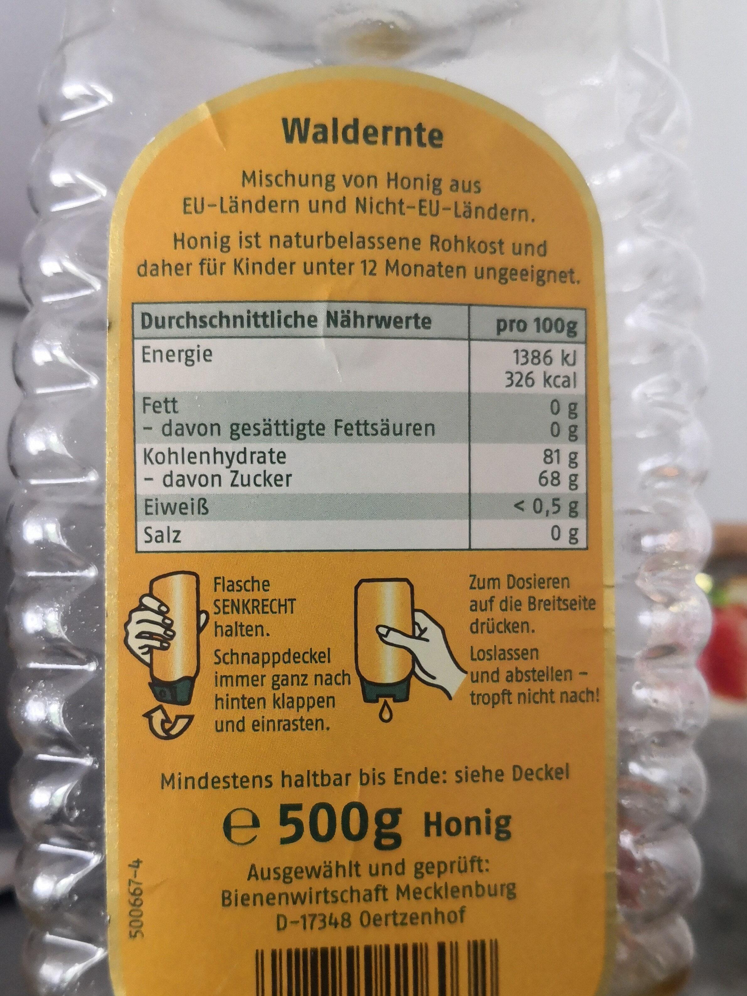 Sonnentau Waldernte würzig - Informations nutritionnelles - de