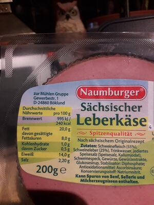 Sächsischer Leberkäse - Ingredients