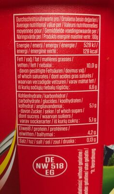 Yogurt Suzme - Informations nutritionnelles - fr