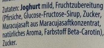 Pfirsich-Maracuja Fruchtjoghurt mild - Inhaltsstoffe