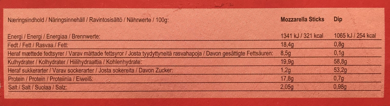 Mozzarella Sticks - Produit - sv
