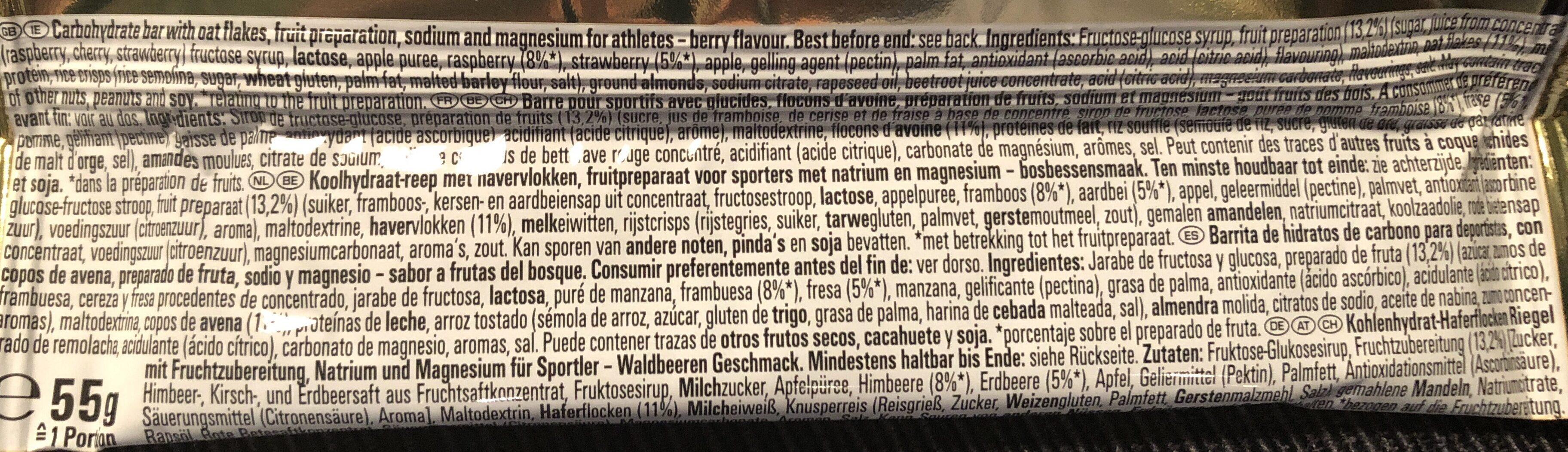 Barre Powerbar - Ingrediënten - fr